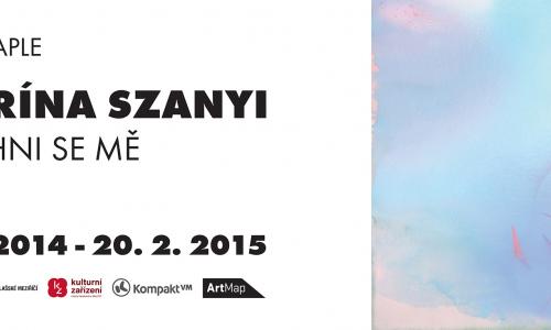 Plakát v tiskové kvalitě k výstavě Katarína Szanyi - Nadechni se mě.