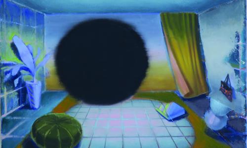 Fenomén prostoru v obrazech slovenského malíře Michala Bôrika v Galerii Sýpka ve Val. Meziříčí