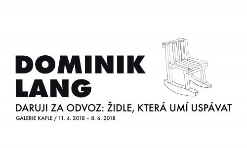 Dominik Lang: Židle, která umí uspávat v meziříčské Galerii Kaple